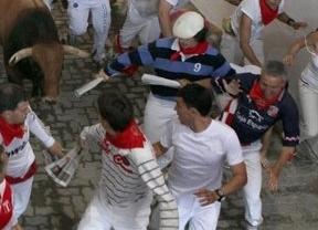 El segundo encierro de San Fermín, rápido y sin heridos por asta