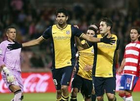 De penalti también vale: el Atleti no afloja en Granada aunque sufre al final para vencer ajustadamente (1-2)