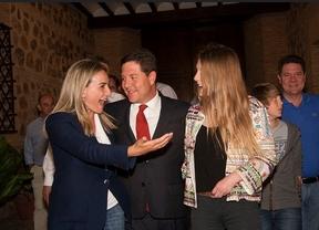 Page, en la noche electoral con Milagros Tolón y su familia
