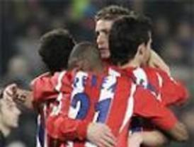 El Atlético gana con autoridad al Villarreal (3-1) y el Valencia empata ante el Bilbao (1-1)