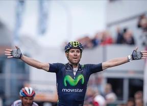 El español Alejandro Valverde triunfa en la clásica belga Lieja-Bastoña-Lieja