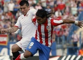 Copa del Rey: el Atleti juega al escondite con 'matador' Falcao ante un Sevilla venido a más