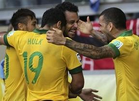 Confederaciones: un gol de Paulinho mete a Brasil en la final, pese a su 'jogo' tan feo como el de Uruguay (2-1)