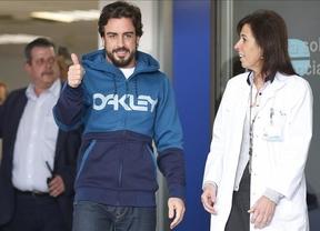 Alonso sale del hospital, pero no podrá terminar el último test de la pretemporada