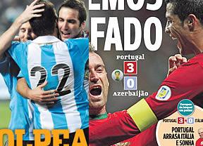 Messi, 'triste' empatando en Perú; Cristiano Ronaldo sonríe ganando con Portugal