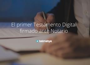 Tellmebye, el primer testamento digital ante notario