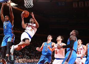 Un 'doble doble' de Ibaka no basta y sus Thunders caen ante los Knicks de Calderón
