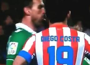 La anti-Liga: Amaya escupió con ganas a Diego Costa