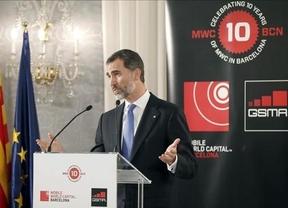 El Rey elogia a Barcelona ante Artur Mas como 'referente' de emprendedores en el Mobile World Congress