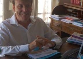 El abogado Jaime Navarro en su despacho tras recibir la sentencia