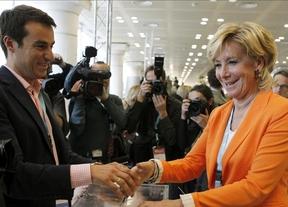 Esperanza Aguirre, reelegida a 'la búlgara', casi con el 100% de los votos, al frente del PP de Madrid