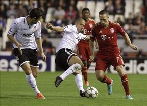 Noche agridulce para un diezmado Valencia que tuteó al Bayern (1-1)