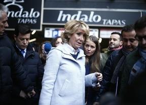 El juez archiva el incidente de Esperanza Aguirre con los agentes de seguridad