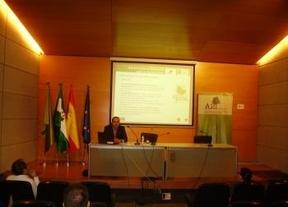 Eduardo Martínez de Xternaliza Marketing Online presenta la marca 'Sabor Granada' ante autoridades y políticos de la Diputación de Granada