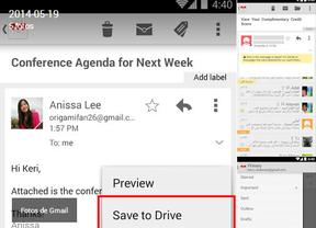 Gmail para Android permite cargar archivos directamente en Drive