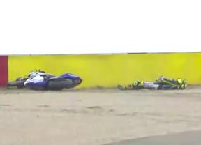 Rossi, dado de alta tras la aparatosa caída en el circuito de Motorland