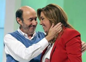 Susana Díaz se reúne en Ferraz con Rubalcaba para llegar a un acuerdo sobre la fórmula sucesoria mientras sigue recabando apoyos
