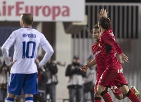 El Mallorca de Caparrós sigue en caída libre y es incapaz de ganar a un Zaragoza con diez (1-1)