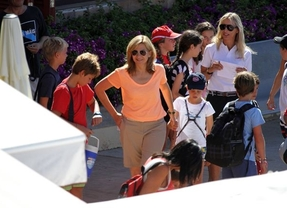 La Infanta Cristina vuelve a Palma para dejar a sus hijos con la abuela Sofía