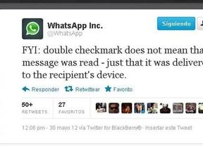 Se acabó el gran misterio de WhatsApp: 'El doble check no significa que el mensaje haya sido leído'