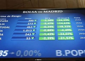 El Ibex abre plano y defiende los 9.900 enteros, con la prima en 146 puntos, pendiente del Tesoro