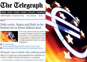El 'Telegraph' británico especula (y ataca) con un multimillonario y urgente rescate de España e Italia