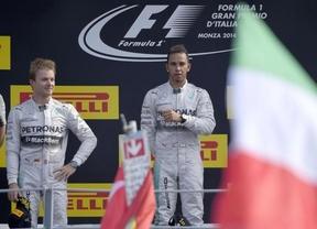 Hamilton recorta a Rosberg y Alonso se retira en casa de Ferrari