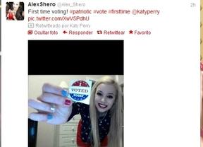 Votar, subir tu foto a Twitter y compartirla con Katy Perry