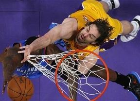 El fin de una era: los Lakers de Gasol caen prematuramente ante los Oklahoma de Ibaka (106-90)