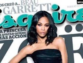Zoe Saldaña desborda sensualidad en la revista Esquire