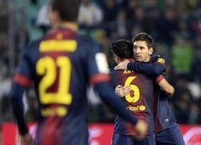 El Barça aleja el sueño del Córdoba y el Sevilla le endosa una 'manita' al Mallorca (0-2)