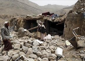 La coalición árabe bombardea el centro de Saná para luchar contra los rebeldes hutíes en Yemen
