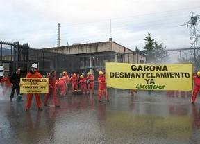 Greenpeace irrumpe esta vez en la central nuclear de Garoña para pedir su desmantelamiento inmediato