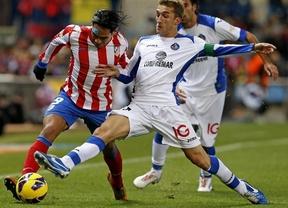 El Atlético también sabe ganar sin los goles de Falcao, que no marcó ante el Getafe (2-0):