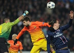 La diosa Fortuna se alía contra un Barça que mereció mejor resultado en París (2-2)