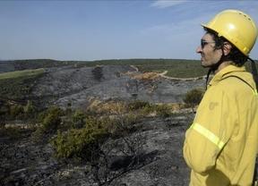 Controlado el incendio de Aleas, pedanía de Cogolludo en Guadalajara