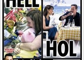 David Cameron, tomando el sol en Ibiza mientras Reino Unido tiembla