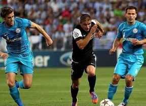 El Málaga firma un brillante debut en Europa al derrotar al Zenit de San Petersburgo (3-0)