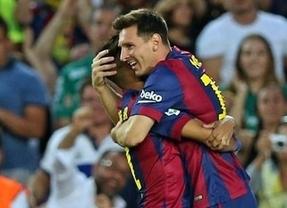 Trofeo Juan Gamper: el Barça se entretiene y le endosa un set a un flojísimo León en el debut del 'caníbal' Suárez (6-0)