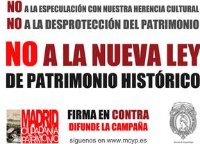 Campaña de firmas por internet contra la nueva Ley de Patrimonio Histórico