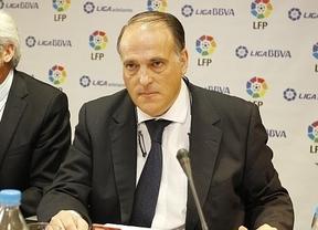 El presidente de la Liga amenaza con suspender la final de Copa si se pita al Rey o al himno