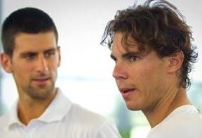 Nadal y Djokovic buscan el número uno del Guinness en un partido amistoso y benéfico en el estadio del Bernabéu