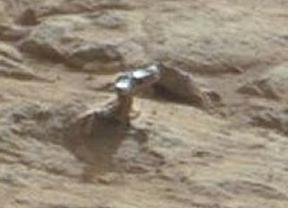 Curiosity capta un objeto de aspecto metálico en Marte