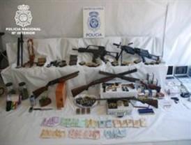 Cae en Granada una red con 16 miembros dedicada al tráfico de drogas y la venta de armas