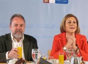 Cospedal con el candidato a la Alcaldía de Toledo, Jesús Labrador