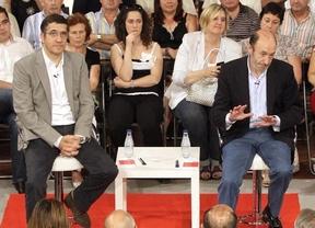 Morbo absoluto este mediodía en Bilbao: Rubalcaba y Patxi López coinciden en la Conferencia de las Juventudes Socialistas