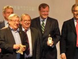 Mateos, Ángel Velasco, Jesús Berzosa, Óscar Reguera y Mónica Lafuente y Francisco Ramos, premios Hemicisco 2010