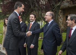 El Príncipe de Asturias inaugura la ampliación de la refinería de Repsol en Bilbao