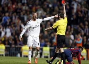 Duro 'partido' para Competición: decidirá sobre la roja a Ramos, recurrida por el Madrid, y sus declaraciones y las de Ronaldo contra Undiano Mallenco