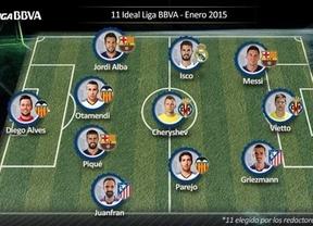 Valencia y Barça copan el once perfecto de enero de la Liga